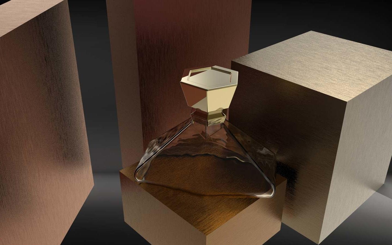 Hexagonal lid perfume
